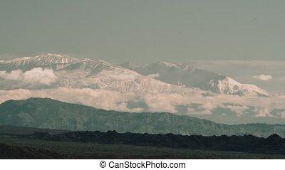 View Onto The Ojos Del Salado Volcano, Argentina - This clip...