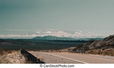 View Onto The Ojos Del Salado Volcano, Argentina - This clip...