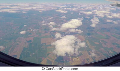 View out of airplane window