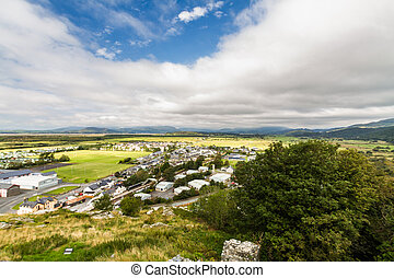 View out to sea, Harlech North Wales.