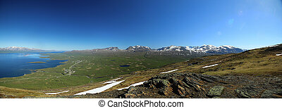 View over Abisko valley in Northern Sweden