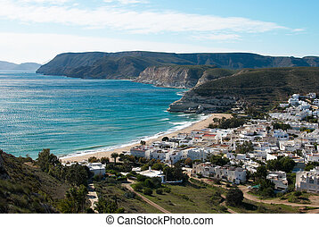 Andalusian village - View over Agua Amarga, a traditional...
