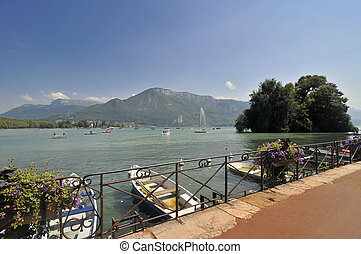 View over Annecy lake