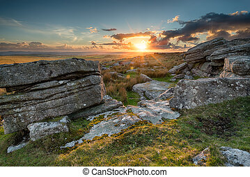 View over Bodmin Moor in Cornwall