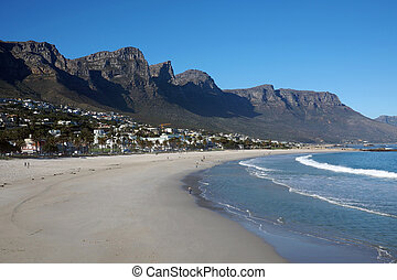 View over Camps Bay beach, Cape Town, South Africa