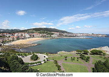 View over Castro Urdiales, Cantabria, Spain