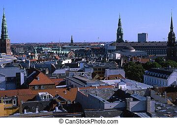 View over Copenhagen from Round Tower.