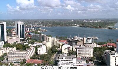 dar es salaam city in tanzania - view over dar es salaam...