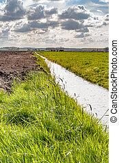 View over Dutch landscape