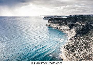 View over Episkopi bay, southern coast of Cyprus.
