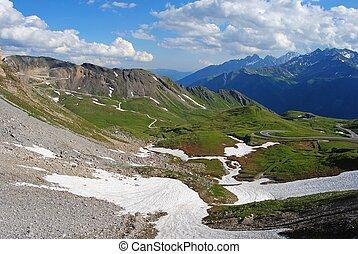 View over Grossglockner High Alpine Road in Austria