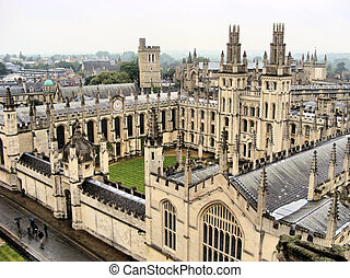 View over historic Oxford - View over the historic ...