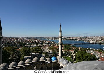 View over Istanbul from roof of a mosque