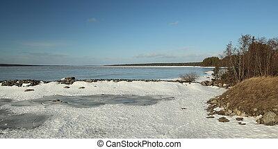 View over Lake Storsjon in Jamtland, Sweden