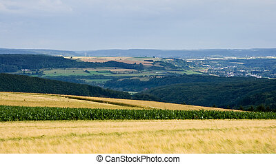 View over landscape in Luxembourg, Europe