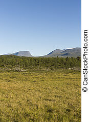 View over Lapporten in Lapland.
