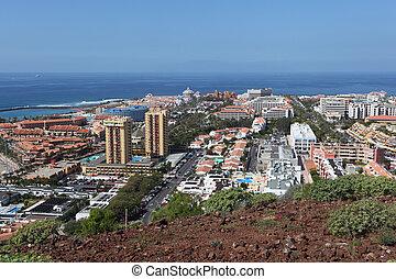 View over Las Americas, Canary Island Tenerife, Spain