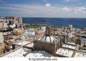 View over Las Palmas de Gran Canaria, Spain