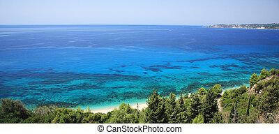 View over Lourdas Bay