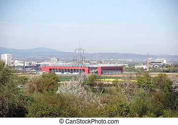 View over Mainz at the stadium