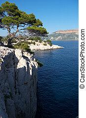 view over mediterranean sea
