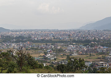 View over Pokhara in Nepal