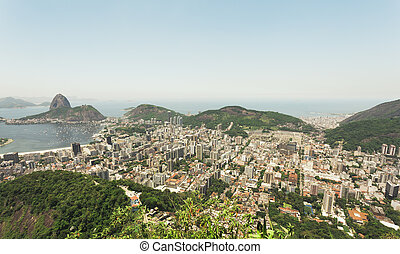 View over Rio from Corcovado - Cityscape view over Rio from...