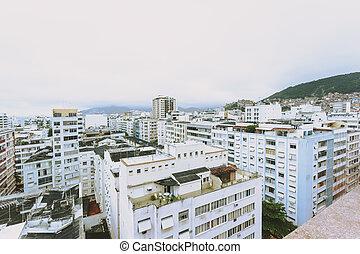View over rooftops in Rio De Janero