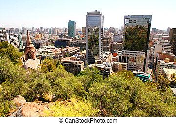 View over Santiago de Chile, South america.