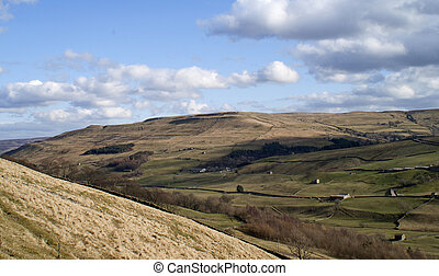 View over Swaledale, Yorkshire Dales, UK