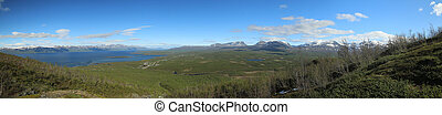 View over the Abisko valley in Lapland, Sweden