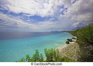 View over the beautiful coastline on Bonaire