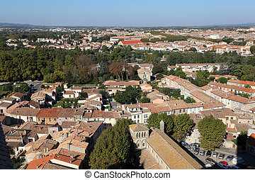 View over the city of Carcassonne, France