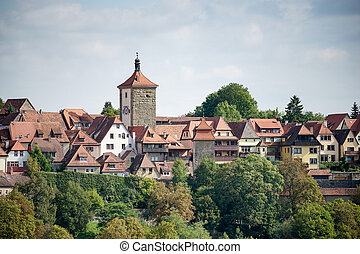 View over the City of Rothenburg