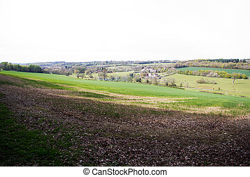 View over the countryside in the Chilterns