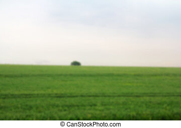 View over the English countryside in the Chilterns Out of focus.