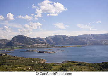 View over the hills in Norway
