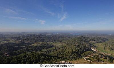 view over the island of menorca, Balearic islands, spain