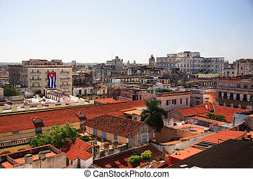 View over the red roofs of Havana