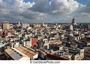 View over the rooftops in Havana, Cuba