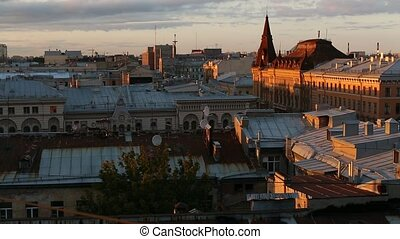 View over the rooftops of the historic center of St. ...