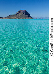 Le Morne Brabant - View over the turquoise waters of the ...