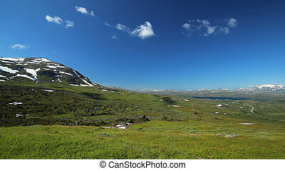 View over the valley Karkevagge in Lapland
