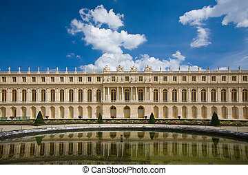 Versailles - View over the Versailles Palace, in Paris,...
