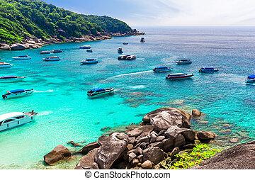 View of nice tropical beach.