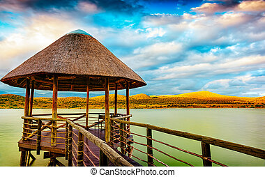 View point on the lake in South Africa