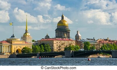 View Saint Isaac's Cathedral in Saint Petersburg from Neva...