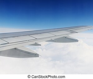 View sky from an airplane