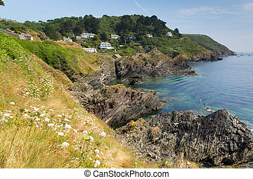 View South West Coast path Polperro - View from South West...