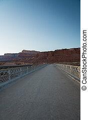 View the Navajo bridge in Arizona